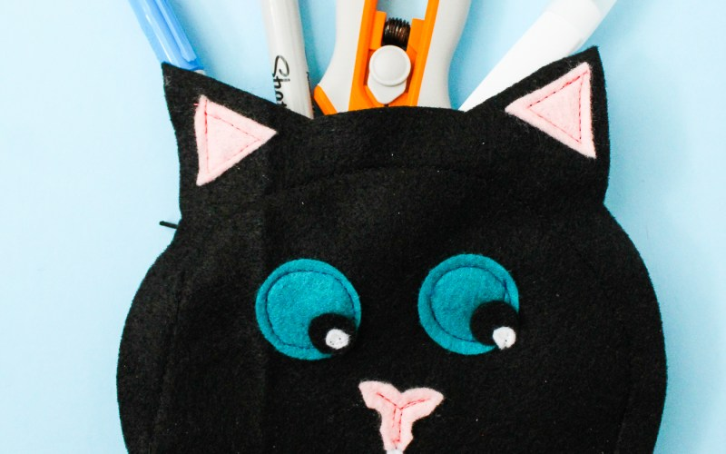 Black Cat Small Pouch Tutorial