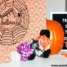 Easy No Sew Halloween Decor