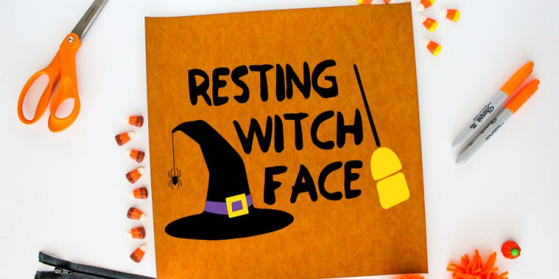 Halloween Cut File - Resting Witch Face: Come grab this free cut file and make yourself a fun t-shirt or piece of art.   www.sewwhatalicia.com