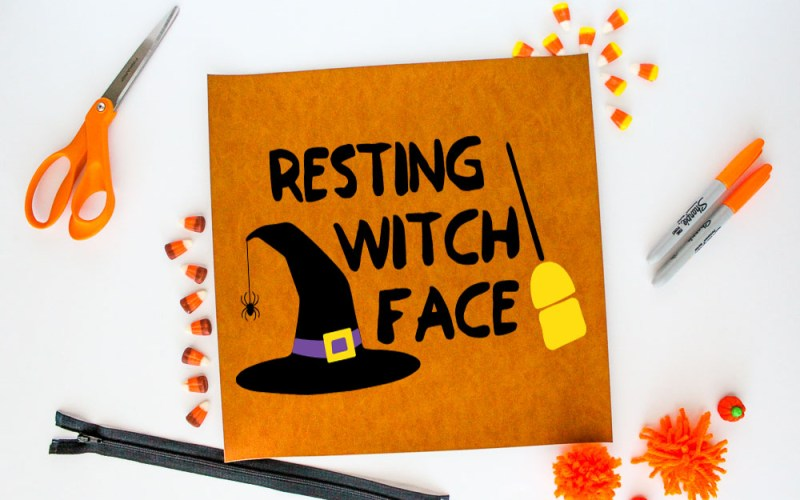 Halloween Cut File – Resting Witch Face