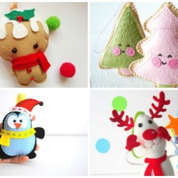 10+ Fun Felt Ornaments to Sew