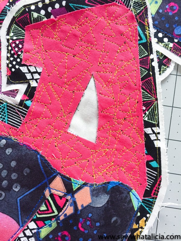 Graffiti Quilting Pattern and Tutorial: This graffiti quilting pattern and tutorial is fun and modern. The CREATE lettering on this quilt is fun and unique. Click through for the tutorial and pattern. | www.sewwhatalicia.com