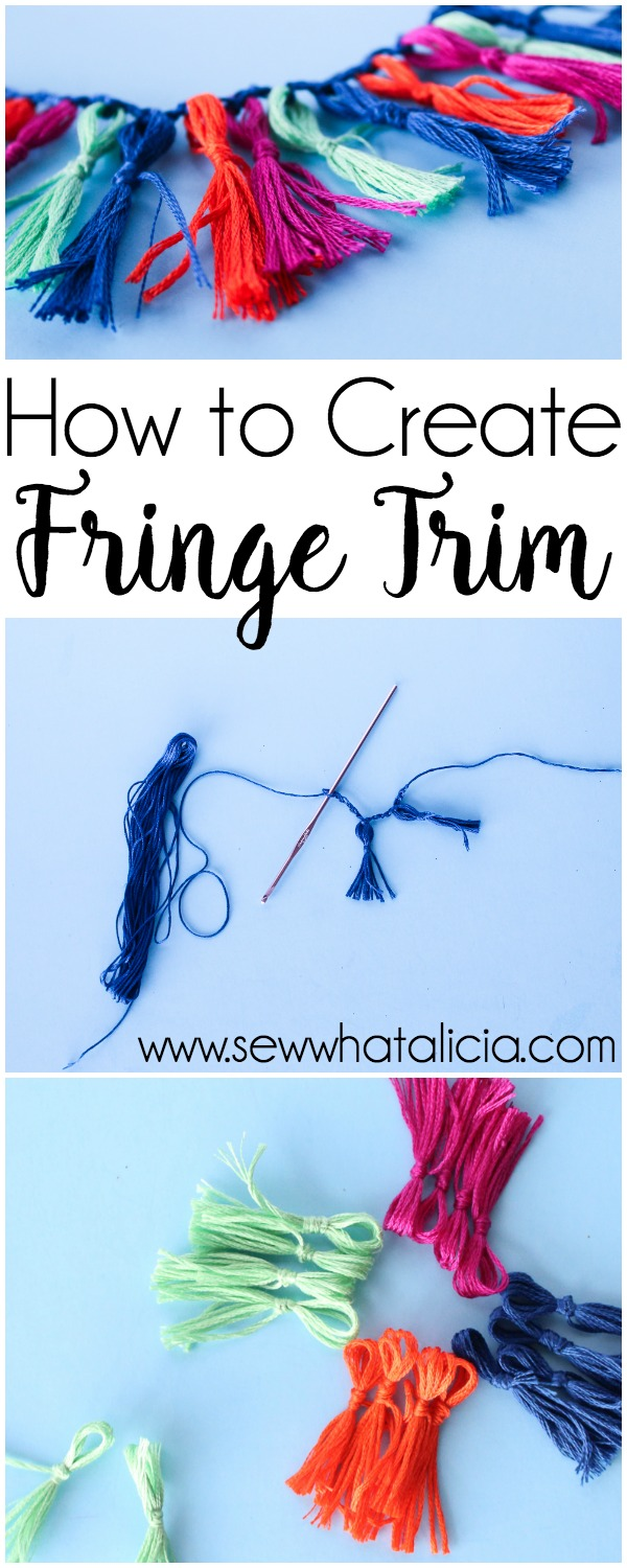 Handmade Fringe Trim Tutorial: Create this fun fringe trim to add a unique and colorful flair to your next project. Click through for the full tutorial. | www.sewwhatalicia.com