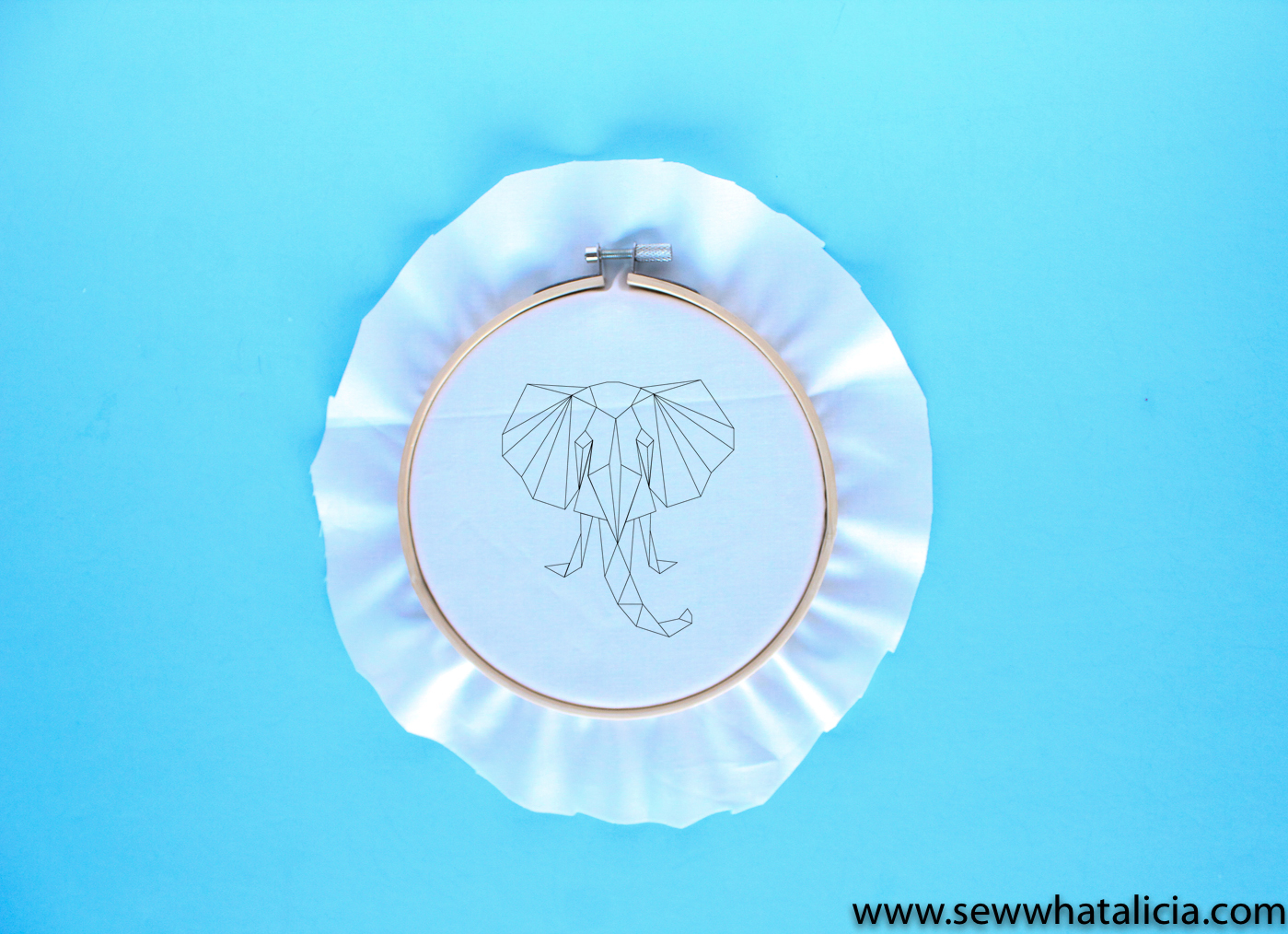 Geometric Elephant SVG and Embroidery Pattern - Sew What