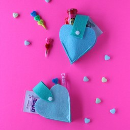 Felt Heart Valentine Sewing Project