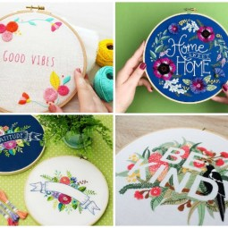 10+ Fabulous Floral Embroidery Designs: These embroidery designs are simply fabulous. Click through for a full list of beautiful patterns to hand embroidery today!   www.sewwhatalicia.com