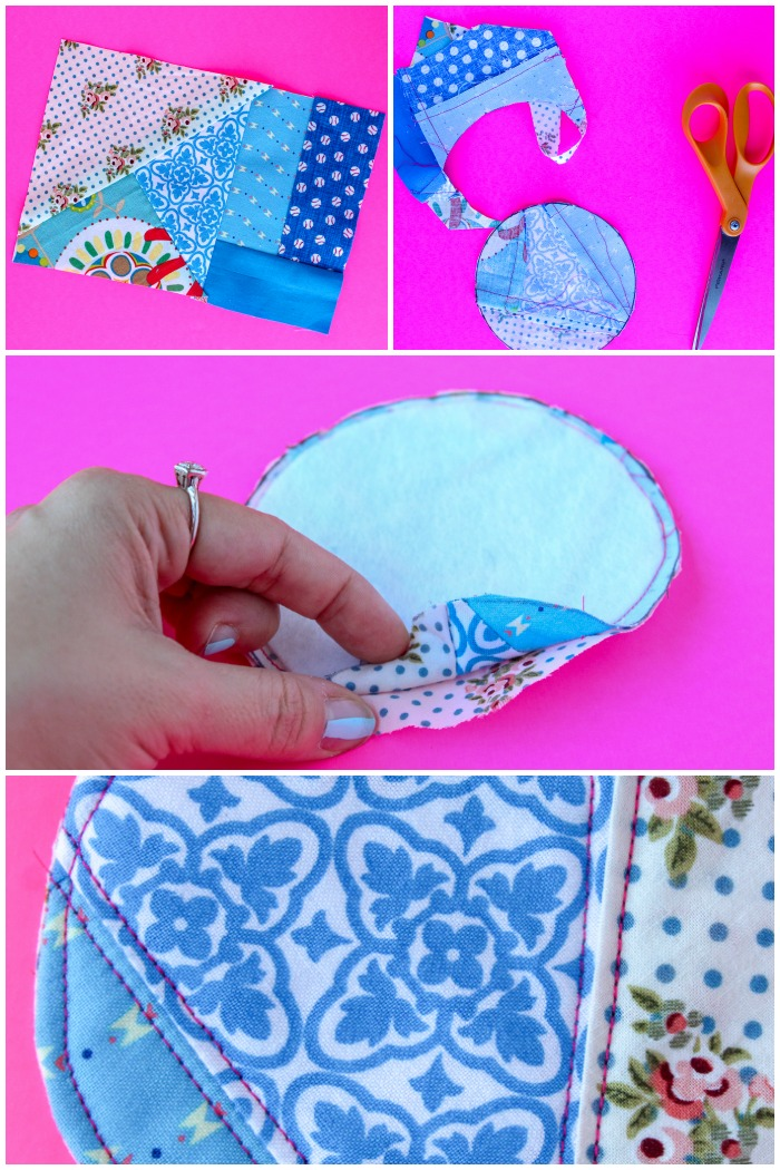 Quilted Coaster Pattern: This easy sewing project is also a free sewing project that you can use as a great scrap buster. Don't miss the video tutorial. Click for the free pattern and video walkthrough. | www.sewwhatalicia.com