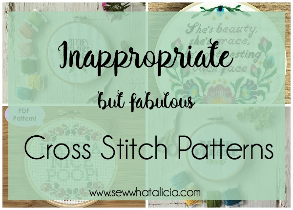 Inappropriate Cross Stitch Patterns that are Fabulous! - Sew What