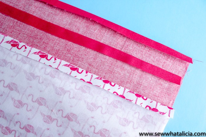 """How to make a tote bag: press the top edges under 1/4"""" 