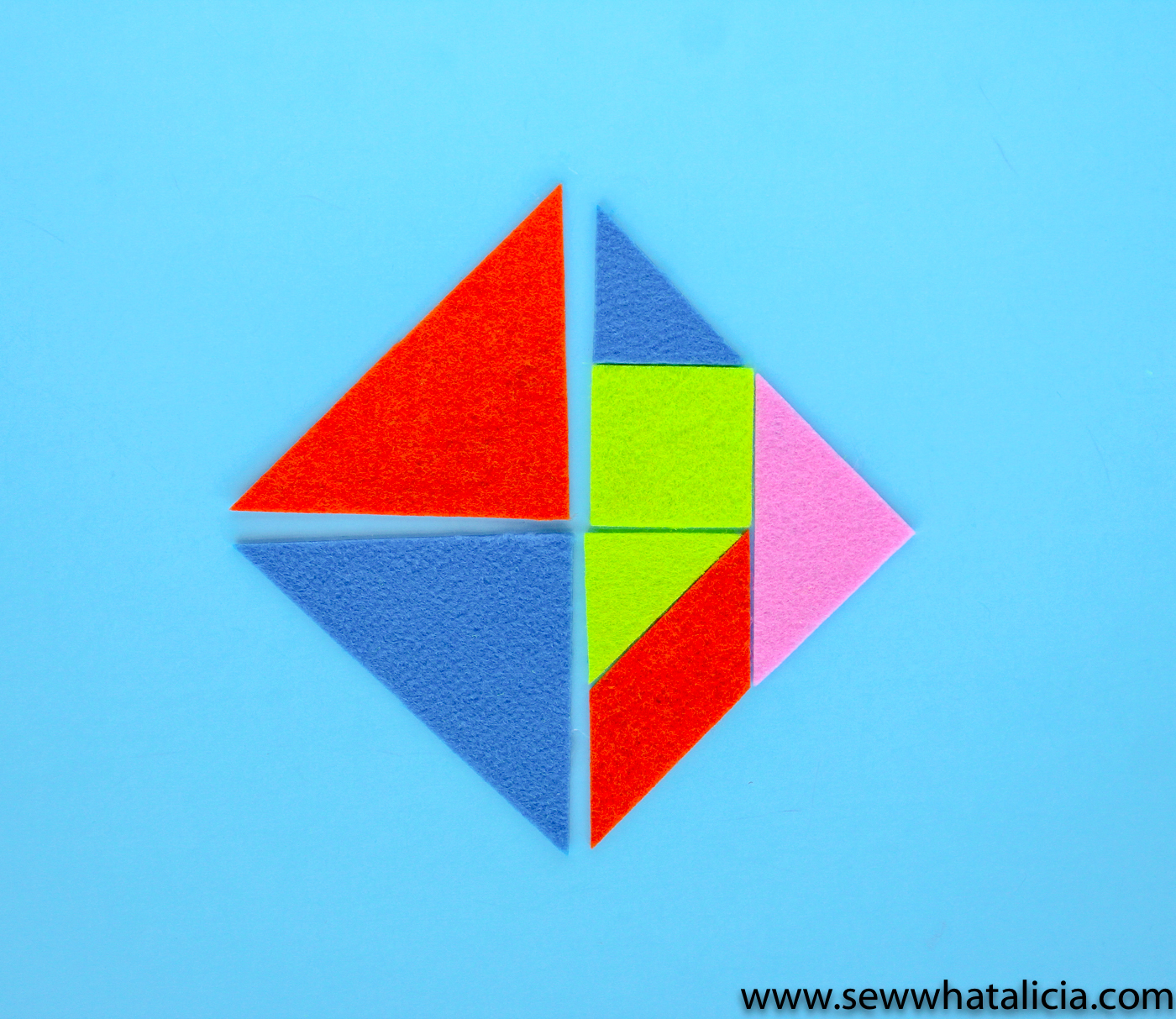 photograph relating to Tangram Printable Pdf called Cuttable and Printable Tangrams PDF - Sew What, Alicia?