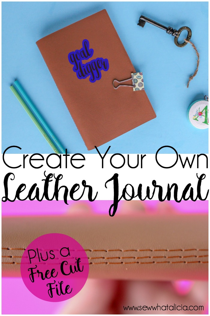 Personalized Leather Journal - DIY with Cricut Maker - Sew