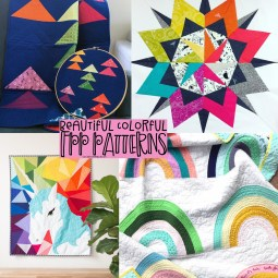 Colorful Rainbow Foundation Paper Piecing Patterns