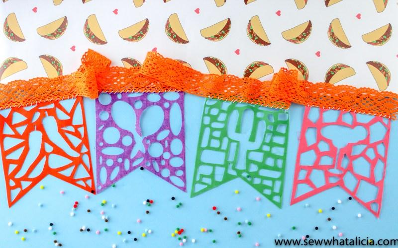 DIY Fabric Papel Picado Bunting