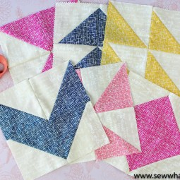 Half Square Triangles - 6 Easy Quilt Blocks and Patterns: This tutorial will teach you how to sew a half square triangle. It also includes 6 fun quilt designs using the half square triangle. Click through for the full tutorial and patterns.   www.sewwhatalicia.com