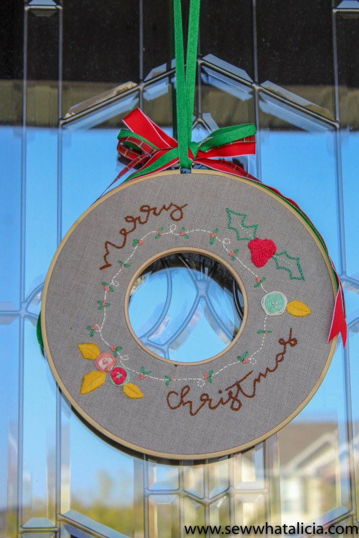 pictured double hoop christmas wreath