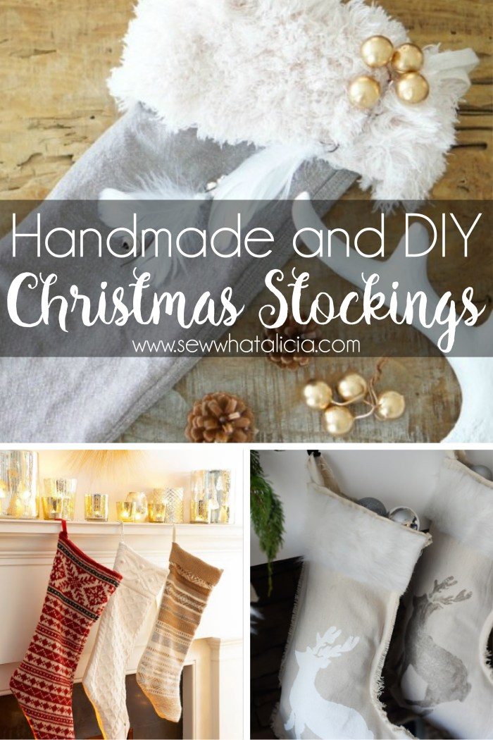 Great List of Christmas Stocking Pattern Ideas: These stocking patterns are great for making your own stockings this year. Click through for a full list of great stocking patterns. | www.sewwhatalicia.com