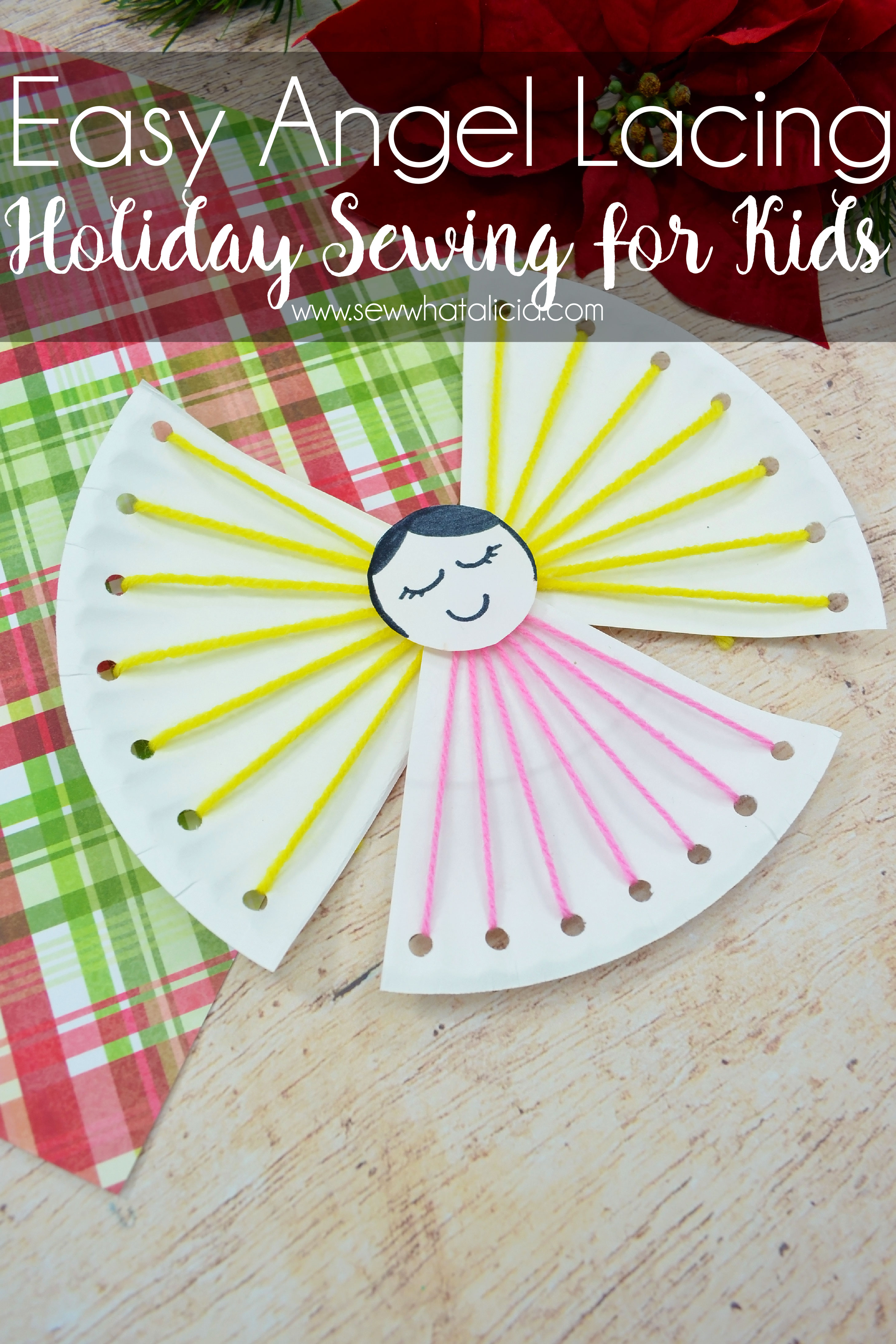 Easy Christmas Crafts for Kids - Angel Lacing Project - Sew What ...
