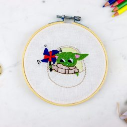 Baby Yoda Pattern Hand Embroidery