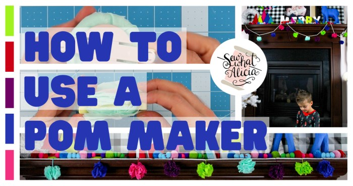 How to use a pom pom maker: If you have trouble using these confounded machines then this post is for you! Use it with thread or fabric and create some amazing pom poms. Click through for a full video walkthrough and tips and tricks. | www.sewwhatalicia.com