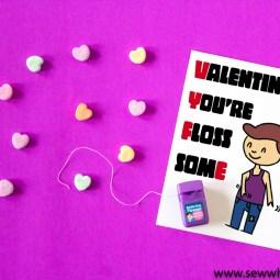 Printable Floss-some Valentine's Card