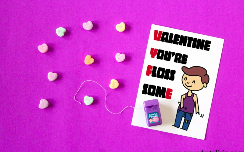 Printable Floss-some Valentine's Card