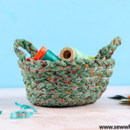 "How to Make a ""T-shirt Yarn"" Bowl"