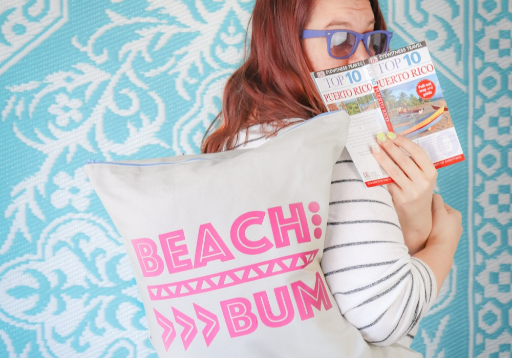 Beach Tote Bag Pattern and Free Beach Cut File