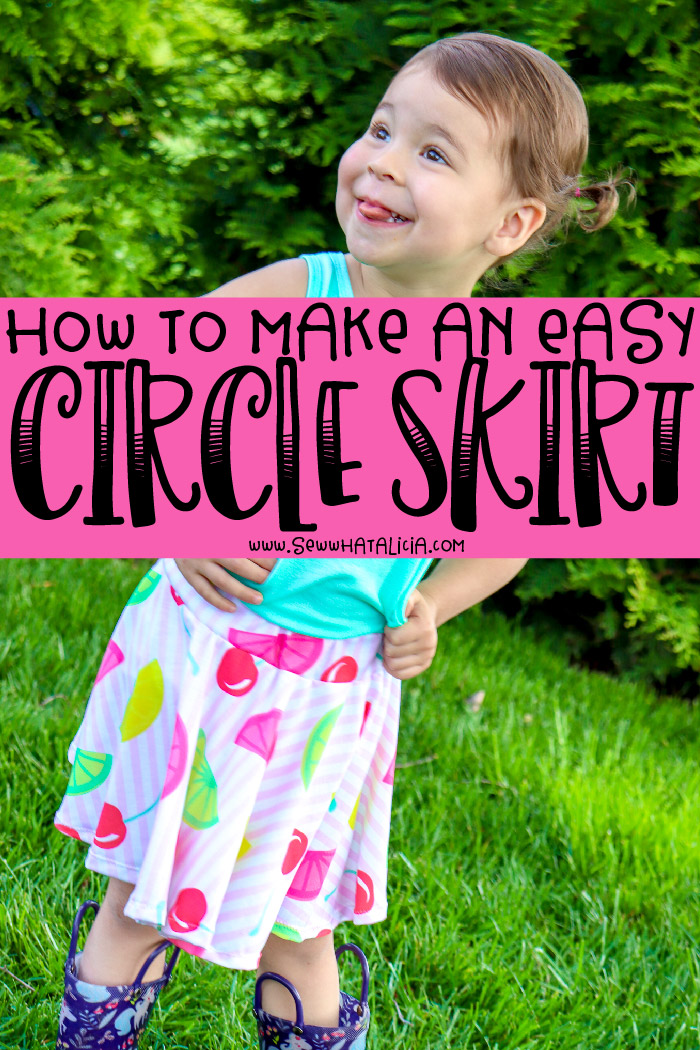 How to Make a Circle Skirt: Learn how to create a circle skirt with an easy waistband. No pattern needed, you can make this easy skirt in any size. Click through for all the details. #handmadewithjoann #ad   www.sewwhatalicia.com