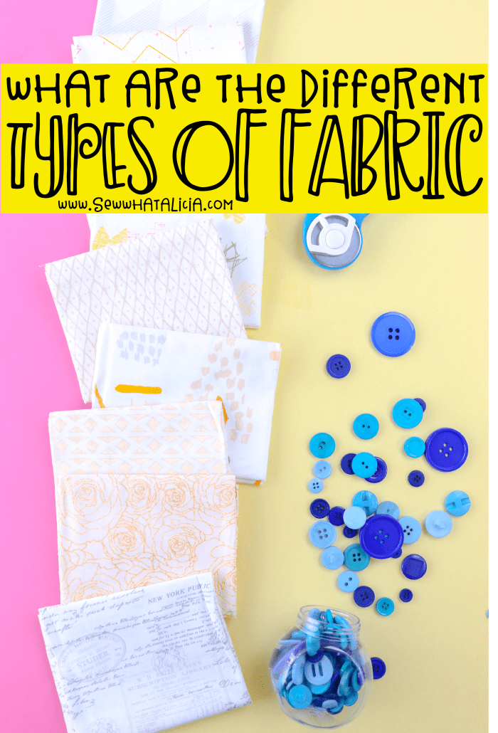 What are the different types of fabric? : Navigating the craft store to find the fabric you want can be so confusing. In this post I will break down all the different types of fabric to take away the confusion! Click through for all the helpful info. | www.sewwhatalicia.com