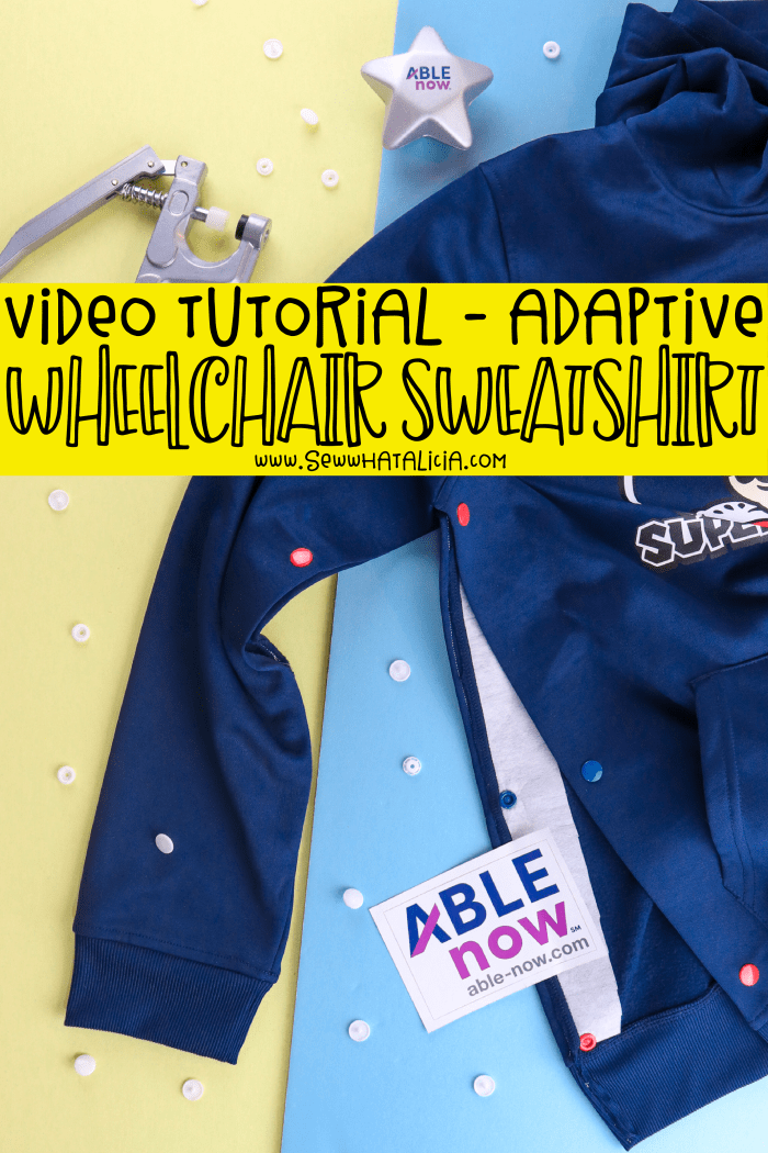 DIY Adaptive Clothing for Wheelchair Users: This no sew or low sew tutorial is great for people with disabilities who need more adaptive clothing. Click through for a video tutorial and instructions. | www.sewwhatalicia.com