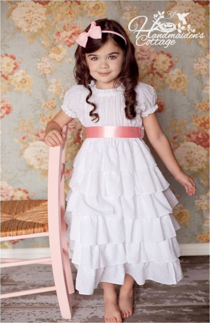 pictured girl in petticoat dress