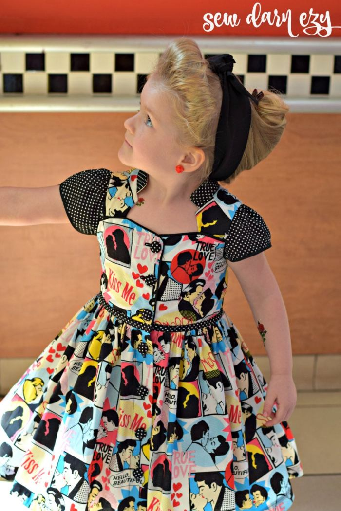 pictured girl in billie party dress