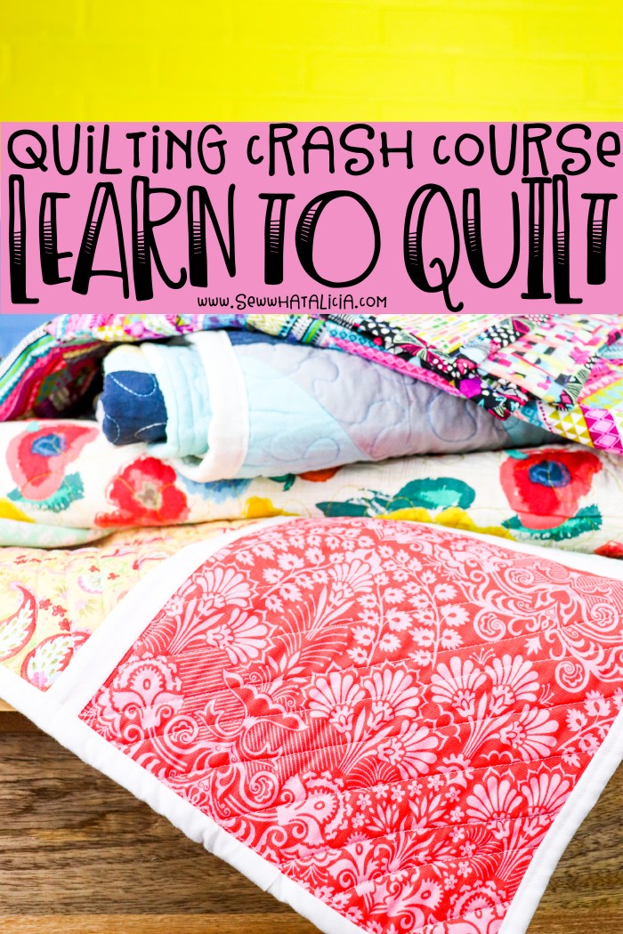 Learn to Quilt - Beginner quilting: This intro to quilting will help you learn to quilt step by step. Click through for easy beginner quilting. | www.sewwhatalicia.com