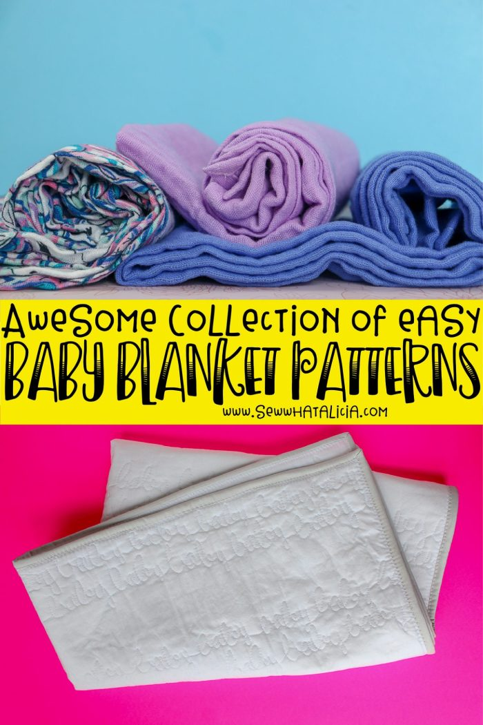 Awesome collection of easy DIY baby blankets patterns - Click through for a huge collection of baby blanket patterns. www.sewwhatalicia.com