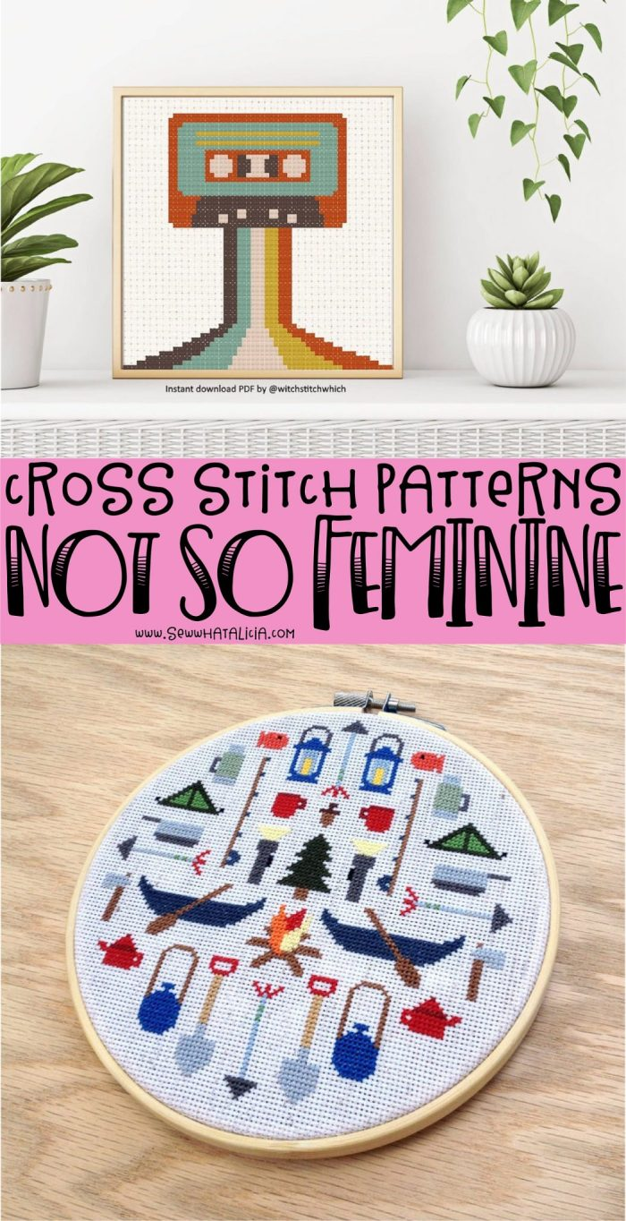 pictured cross stitch patterns and words cross stitch patterns not so feminine