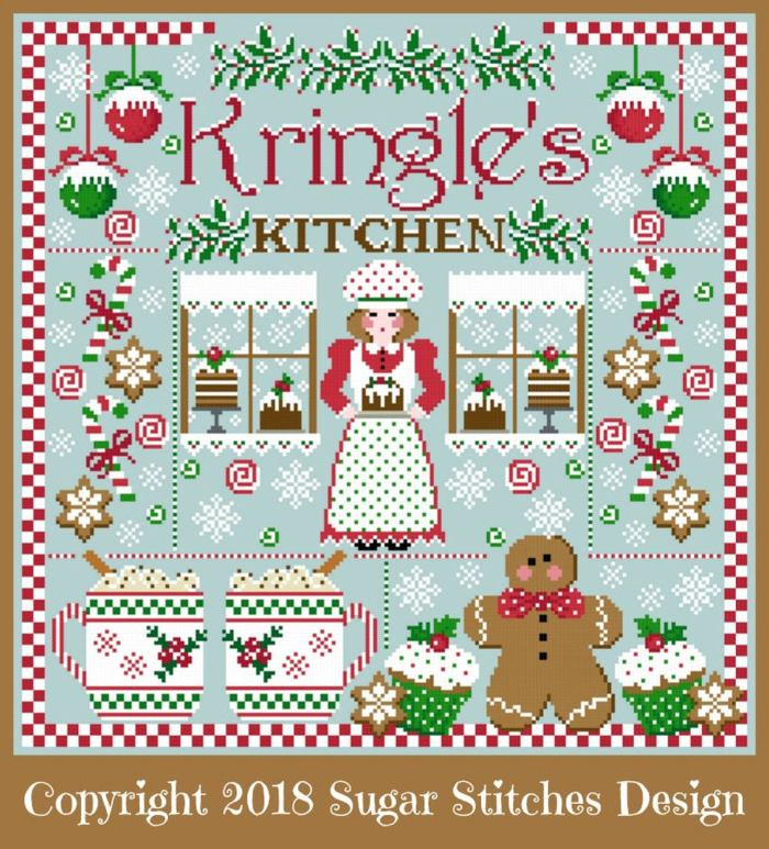 christmas sampler with various holiday images