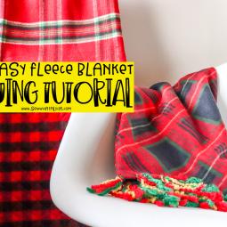 Fleece Blanket DIY Sewing Tutorial