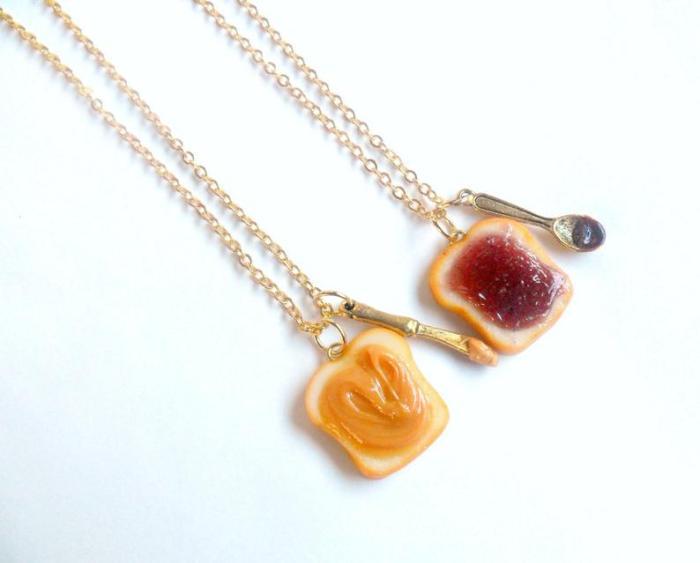 Peanut Butter Jelly Necklace Set