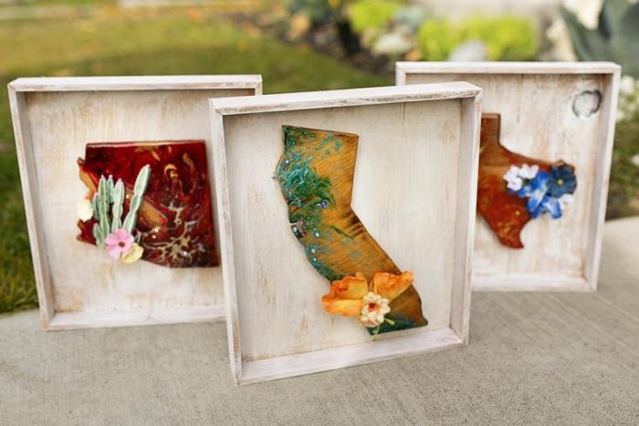 state flower resin art