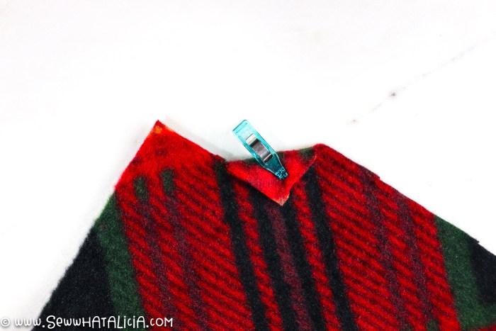 fleece with corner clipped