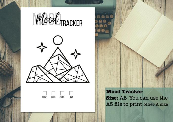 mood tracker featuring mountains