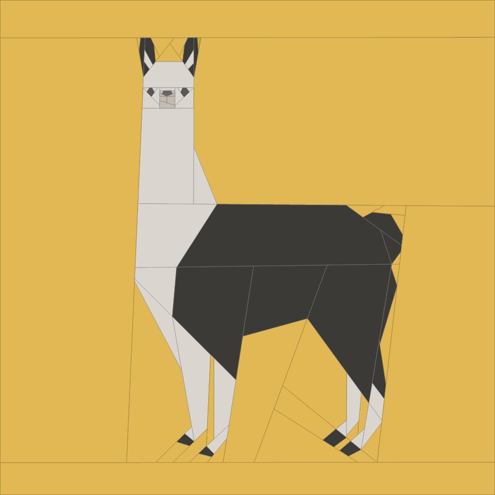 Paper Pieced Leonard The Llama Pattern Pdf Shop Sew