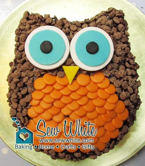 Really Easy Owl Cake