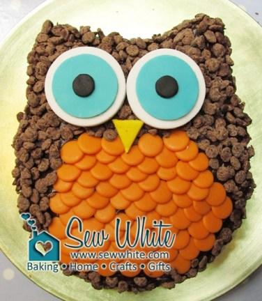 Sew White easy owl cake tutorial 1