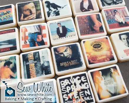 Sew White Bruce Springsteen album cover biscuits 4