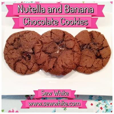 Sew White nutella banana chocolate cookies 4