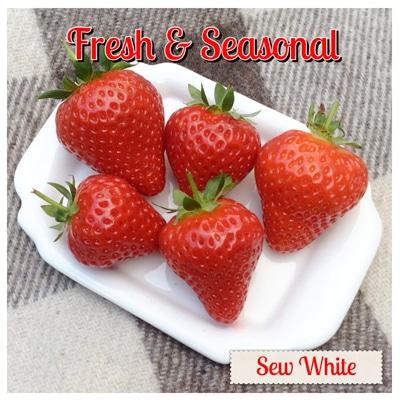 Sew White strawberries sainsburys