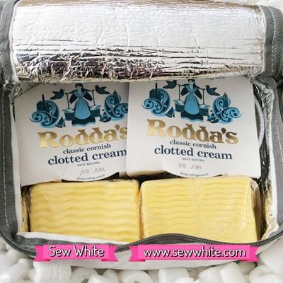 Sew White Roddas cream scones tea 2