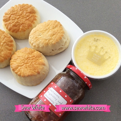 Sew White Roddas cream scones tea 5