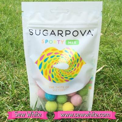Sew White Sugarpova Sharapova tennis balls sweets 1